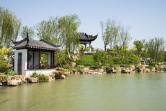 Asia China, Beijing, Garden Expo, Architecture and landscape,Jiangnan garden Royalty Free Stock Photos