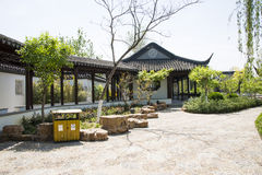 Asia China, Beijing, Garden Expo, Architecture and landscape,Jiangnan garden Stock Photos