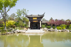 Asia China, Beijing, Garden Expo, Architecture and landscape,Jiangnan garden Royalty Free Stock Photo