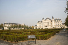 In Asia, China, Beijing, Garden Expo, European architecture Royalty Free Stock Photography