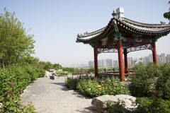 Asia China, Beijing, garden expo,Garden architecture,The viewing platform,Pavilion Royalty Free Stock Photo
