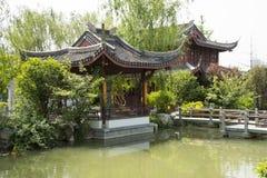 Asia China, Beijing, garden expo,Garden architecture,Pavilion, stone bridge Stock Photos