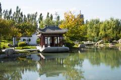 Asia China, Beijing, Garden Expo, Garden Landscape,The marble boat, Stock Image