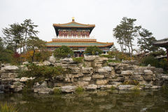 In Asia, China, Beijing, Garden Expo Park, the antique building, courtyard Stock Images