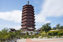 Asia China, Beijing, Garden Expo, Yongding tower, Royalty Free Stock Images