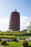 Asia China, Beijing, Garden Expo, Yongding tower, Stock Images