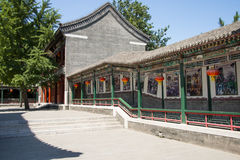 Asia China, Beijing, Grand View Garden,Garden architecture, attic, promenade Royalty Free Stock Images