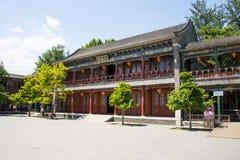 Asia China, Beijing, Grand View Garden, Garden building, attic, Daguanlou Royalty Free Stock Images