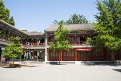 Asia China, Beijing, Grand View Garden, Garden building, attic Royalty Free Stock Photos