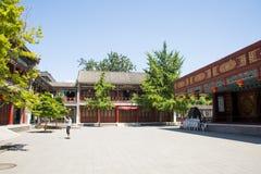 Asia China, Beijing, Grand View Garden, Garden building, attic Stock Photo