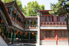 Asia China, Beijing, Grand View Garden,Garden building, attic, Royalty Free Stock Photography