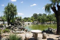 Asia China, Beijing, Grand View Garden, Garden landscape Stock Photos