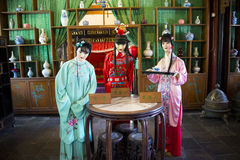 Asia China, Beijing, Grand View Garden,Indoor, a dream of Red Mansions, the characters scene Stock Image