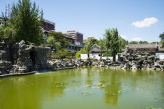 Asia China, Beijing, Grand View Garden, Lakeview, Royalty Free Stock Image