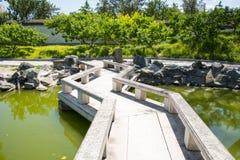 Asia China, Beijing, Grand View Garden,Stone Bridge Royalty Free Stock Images