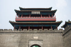 Asia China, Beijing, the Great Wall Juyongguan,architecture,South Gate Tower Royalty Free Stock Image