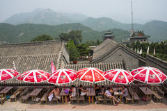 Asia China, Beijing, the Great Wall Juyongguan,awning Stock Image
