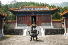 Asia China, Beijing, the Great Wall Juyongguan,Horse Temple,Incense burner Royalty Free Stock Photo