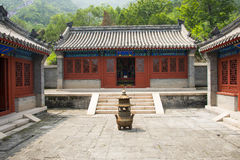Asia China, Beijing, the Great Wall Juyongguan,Horse Temple,Incense burner Stock Image