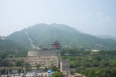Asia China, Beijing, the Great Wall Juyongguan,Scenery and architecture Royalty Free Stock Photography