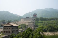 Asia China, Beijing, the Great Wall Juyongguan,Scenery and architecture Stock Photography