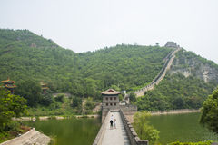 Asia China, Beijing, the Great Wall Juyongguan,Scenery and architecture Royalty Free Stock Photo