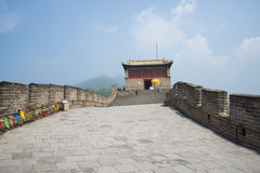 Asia China, Beijing, the Great Wall Juyongguan,watchtower, steps Stock Images