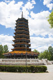 Asia China, Beijing, Guishui River Forest Park, Guichuan pagoda Royalty Free Stock Images