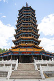 Asia China, Beijing, Guishui River Forest Park, Guichuan pagoda Royalty Free Stock Photo