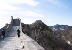 Asia China, Beijing, historic buildings,badaling the Great Wall Royalty Free Stock Photography