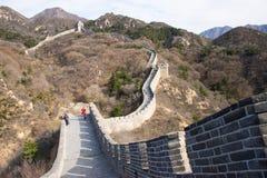 Asia China, Beijing, historic buildings,badaling the Great Wall Royalty Free Stock Image