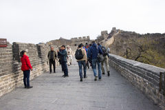 Asia China, Beijing, historic buildings, the Great Wall Stock Image