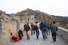 Asia China, Beijing, historic buildings, the Great Wall Stock Photos