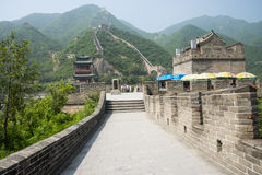 Asia China, Beijing, historic buildings, the Great Wall Juyongguan,. Juyongguan Great Wall, along the Great Wall north of Beijing's famous ancient city relations royalty free stock photos