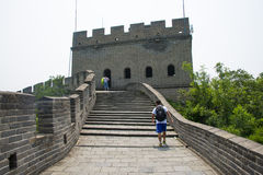 Asia China, Beijing, historic buildings, the Great Wall Juyongguan,. Juyongguan Great Wall, along the Great Wall north of Beijing's famous ancient city relations stock photo