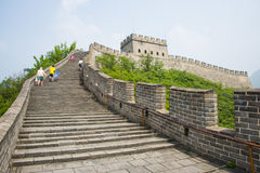 Asia China, Beijing, historic buildings, the Great Wall Juyongguan,. Juyongguan Great Wall, along the Great Wall north of Beijing's famous ancient city relations royalty free stock image