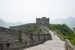 Asia China, Beijing, historic buildings, the Great Wall Juyongguan,beacon tower;. Juyongguan Great Wall, along the Great Wall north of Beijing's famous ancient royalty free stock photography