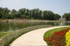 Asia China, Beijing, Honglingjin Park, Summer garden landscape Royalty Free Stock Images