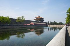 Asia China, Beijing, The imperial palace end door Stock Image