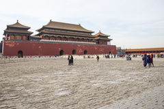 Asia China, Beijing, the Imperial Palace, the history of the building, Meridian Gate Royalty Free Stock Image