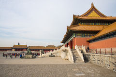 Asia China, Beijing, the Imperial Palace, the history of the building, Pavilions, terraces and open halls Royalty Free Stock Photos