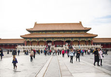Asia China, Beijing, the Imperial Palace, the history of the building, Royal Palace Royalty Free Stock Images