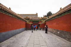 Asia China, Beijing, the Imperial Palace, Landscape architecture Royalty Free Stock Photography