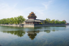 Asia China, Beijing, the Imperial Palace watchtower Stock Photo