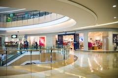 Asia China, Beijing, indigo shopping plaza, indoor building structure. Asia China, Beijing, indigo shopping plaza, a large integrated commercial, shopping Royalty Free Stock Photos