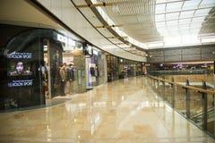 Asia China, Beijing, indigo shopping plaza, indoor building structure. Asia China, Beijing, indigo shopping plaza, a large integrated commercial, shopping Stock Photos