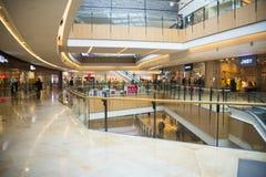 Asia China, Beijing, indigo shopping plaza, indoor building structure. Asia China, Beijing, indigo shopping plaza, a large integrated commercial, shopping Stock Photo