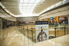 Asia China, Beijing, indigo shopping plaza, indoor building structure. Asia China, Beijing, indigo shopping plaza, a large integrated commercial, shopping Stock Photography