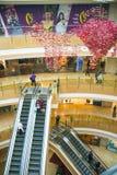 Asia China, Beijing, indigo shopping plaza, indoor building structure. Asia China, Beijing, indigo shopping plaza, a large integrated commercial, shopping Stock Image