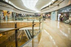Asia China, Beijing, indigo shopping plaza, indoor building structure. Asia China, Beijing, indigo shopping plaza, a large integrated commercial, shopping Royalty Free Stock Image